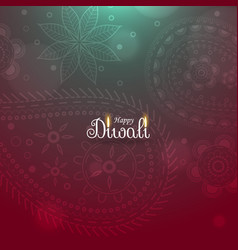 awesome diwali diya background with paisley vector image