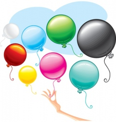 beauty balloons vector image