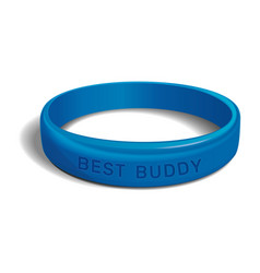 best buddy blue plastic wristband vector image