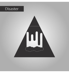 black and white style icon mountain avalanche vector image