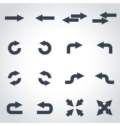 Black arrows icon set vector