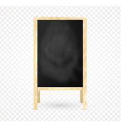 blank wooden frame blackboard isolated chalkboard vector image