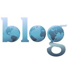 Blog world wide web logo vector