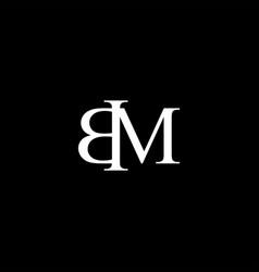 Bm letter mark monogram logo icon vector