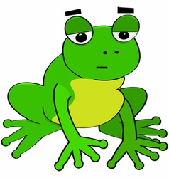 Bored frog vector image