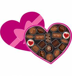 Box of chocolates vector