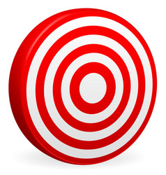 bright red target render bullseye icon element vector image