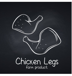 chicken legs chalkboard style vector image