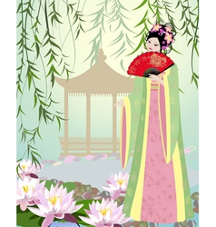 China girl7 vector image vector image