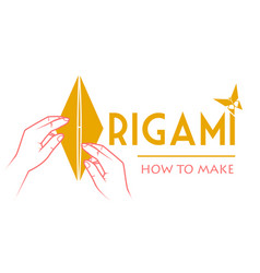 classes origami logo vector image