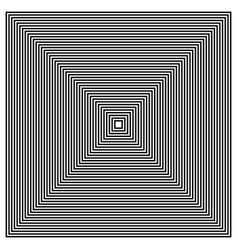 Converging radiating squares vector