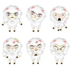 Cute Chibi Sheep2 vector image