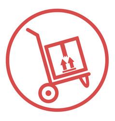 Delivery box icon design vector