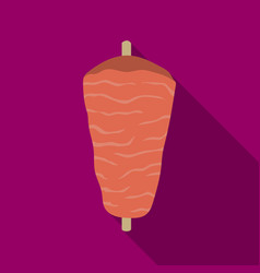 doner kebab icon in flat style isolated on white vector image