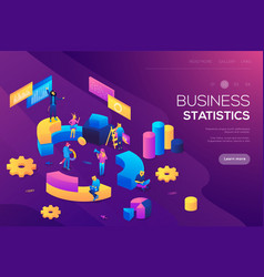Flat isometric infographics for banner or business vector