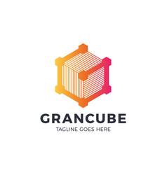 g company construction technology logo service vector image