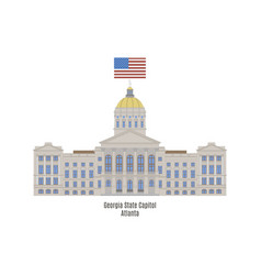 georgia state capitol vector image