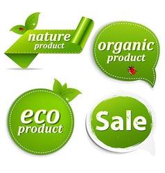 Green Set Eco Tags vector