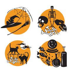 halloween set 3 vector image