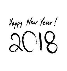 happy new year inscription 2018 vector image