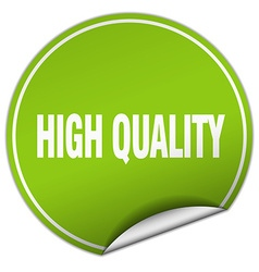 high quality round green sticker isolated on white vector image