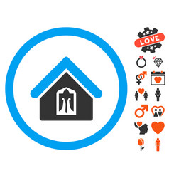 home icon with lovely bonus vector image
