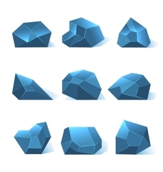 Ice rock pieces set vector image