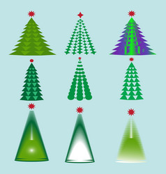 images of christmas trees vector image