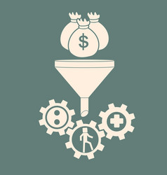 investment in human resources investmenf funnel vector image