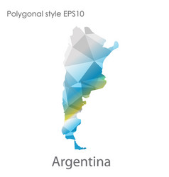 isolated icon argentina map polygonal vector image