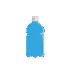 juice bottle plastic flat icon blue vector image