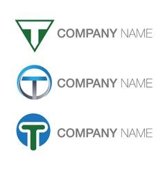 Letter T logoes vector