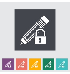 Lock for editing vector image