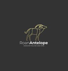logo roan antelope line art vector image