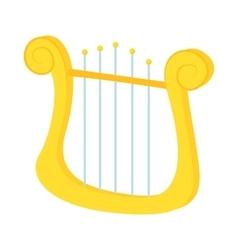 Lyre icon in cartoon style vector