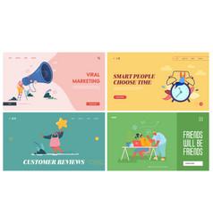 Online public relations affairs website landing vector