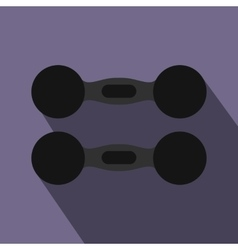 Pair of dumbbells icon flat style vector image