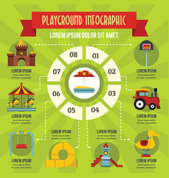 playground infographic concept flat style vector image