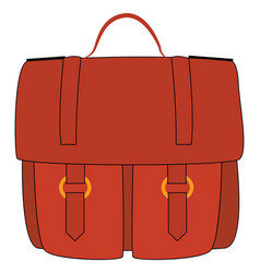 red briefcase on white background vector image