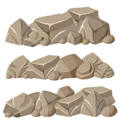 Rock formations in three patterns vector