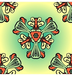 Seamless background made of stylized flowers vector image