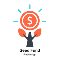 Seed fund flat vector