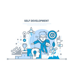 Self development growth finance and success work vector