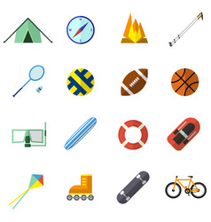 Set of icon in flat design style vector