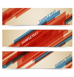 Set of retro horizontal banners vector image