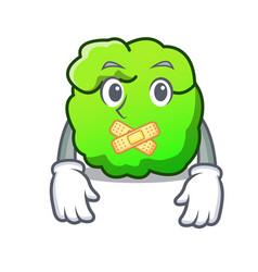 Silent shrub mascot cartoon style vector