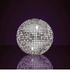 Silver disco ball vector