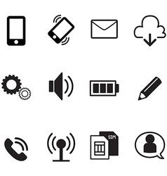 Smartphone basic app icons set vector