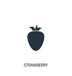 Strawberry icon simple gardening element symbol vector