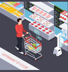 super market of future composition vector image